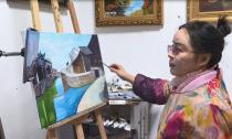 退休教师陆根娣:用油画描绘新市古镇